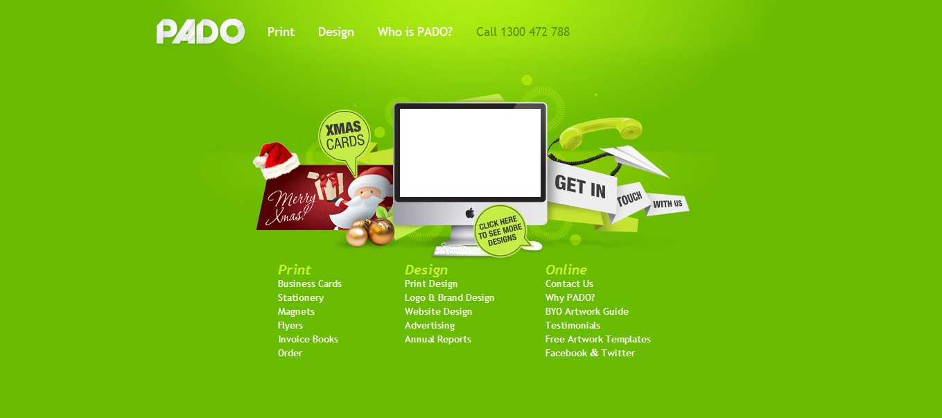 Green Website Design - Pado