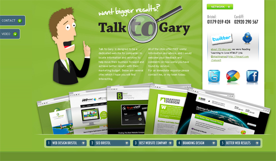 Green Website Design - Talk to Gary