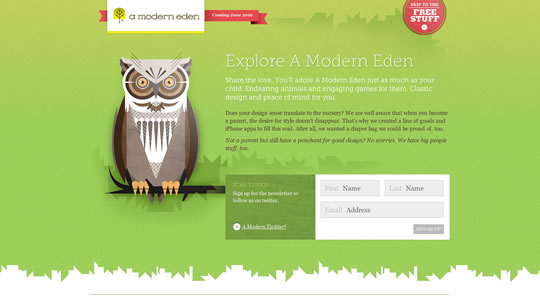 Green Website Design - a modern eden