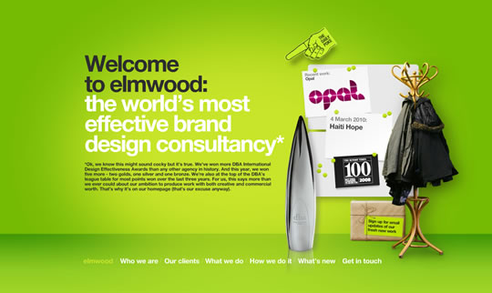 Green Website Design - elmwood