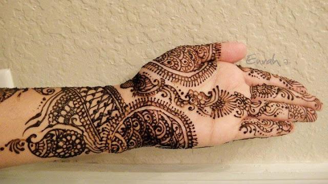 Simple Mehndi Pattern For Eid