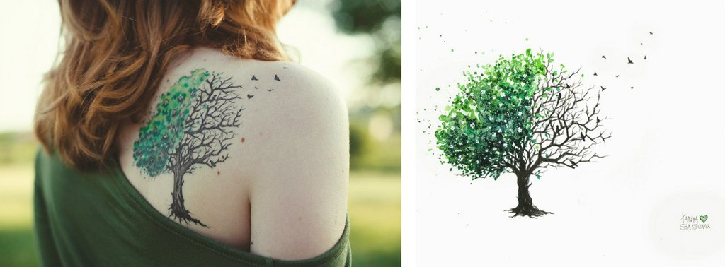 girl with tree tattoo