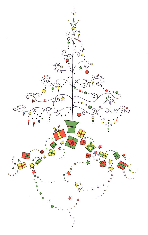 Card Designs: Christmas Tree