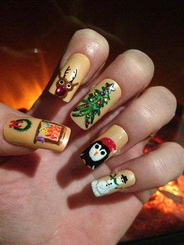 Christmas nail art picture