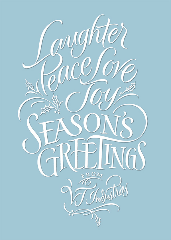 Holiday Card: Brush Calligraphy