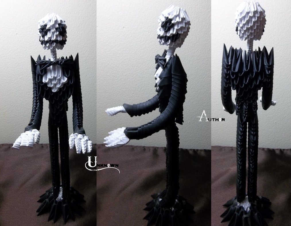 3D Origami - Jack Skellington