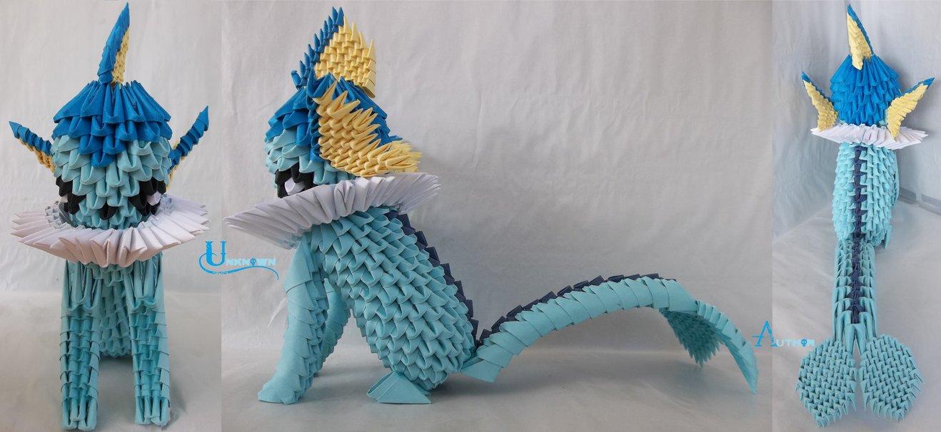 3D Origami - Vaporeon