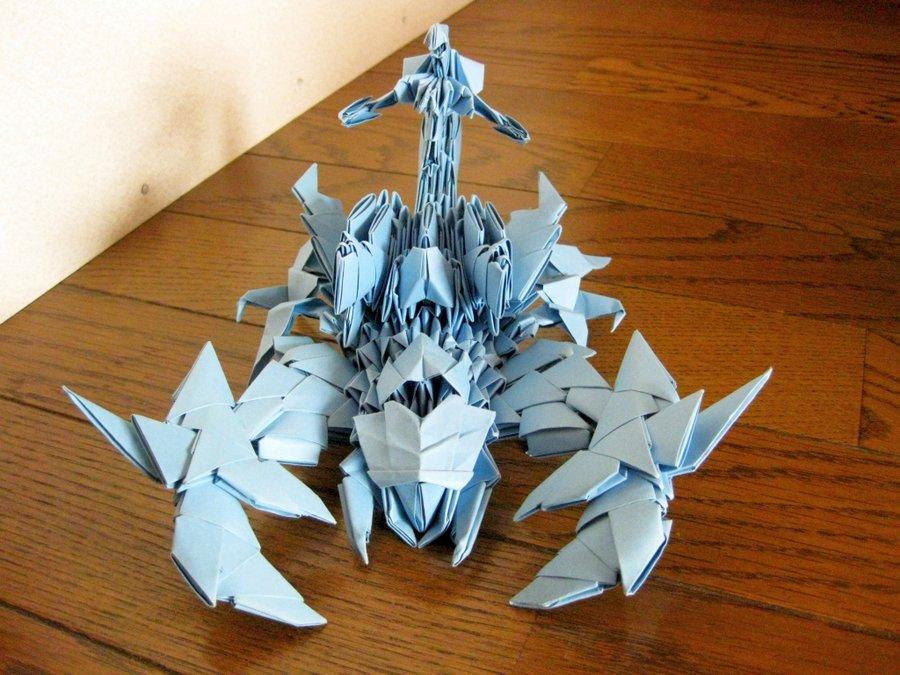 3d origami sea scorpion