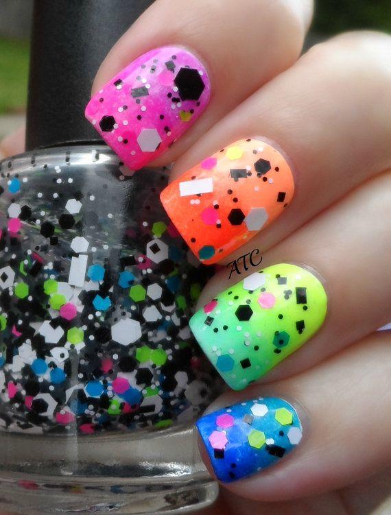 Fresh Colourful Summer Nail Art