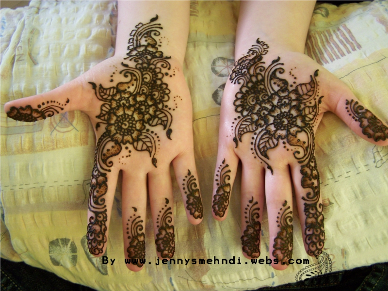 New Arabic Henna mehndi design for Eid