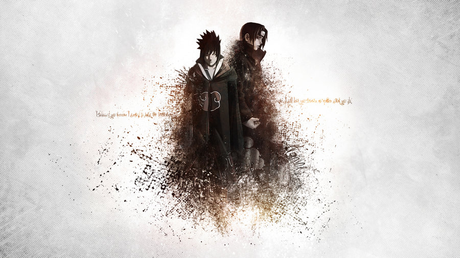 Sasuke and Itachi Akatsuki Wallpaper