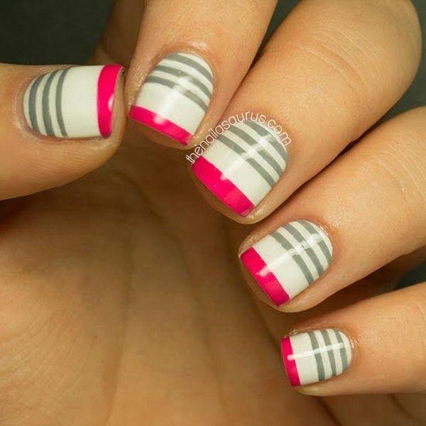 Trendy Stripe Nails
