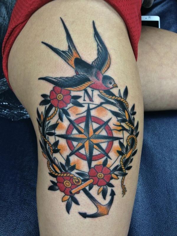 dove compass anchor thigh piece