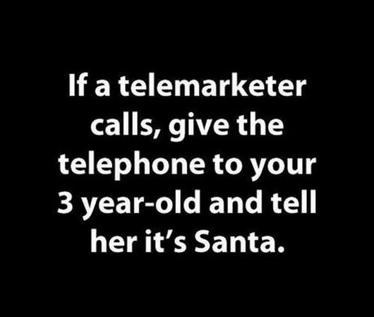 funny quote telemarketer