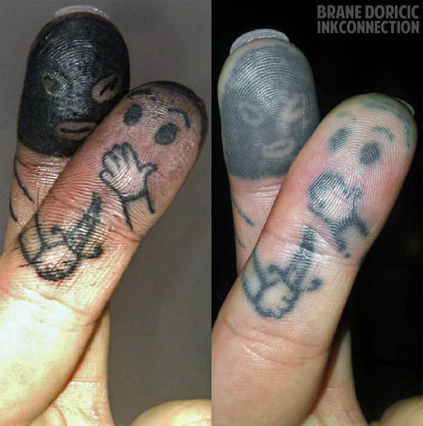 funny tattoo on finger 3