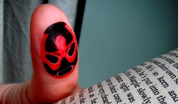 funny tattoo on finger 7