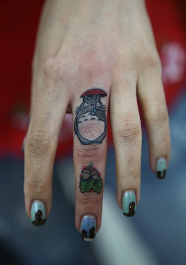 funny tattoo on finger 8
