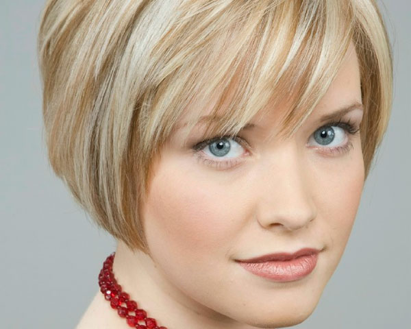 Short Layered Hairstyle For Tick Hair 2015