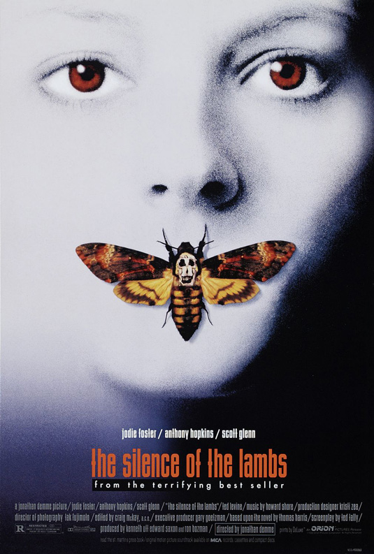 The Silence Of The Lambs - creative movie poster