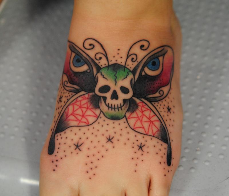 skull butterfly