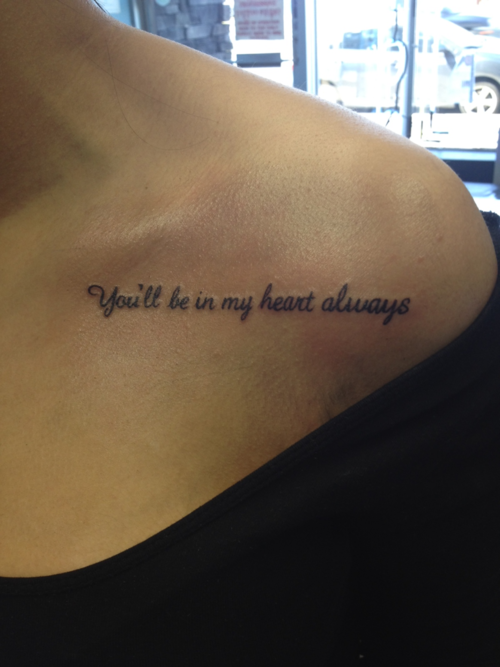 Cute Disney Quote Tattoos for Girls