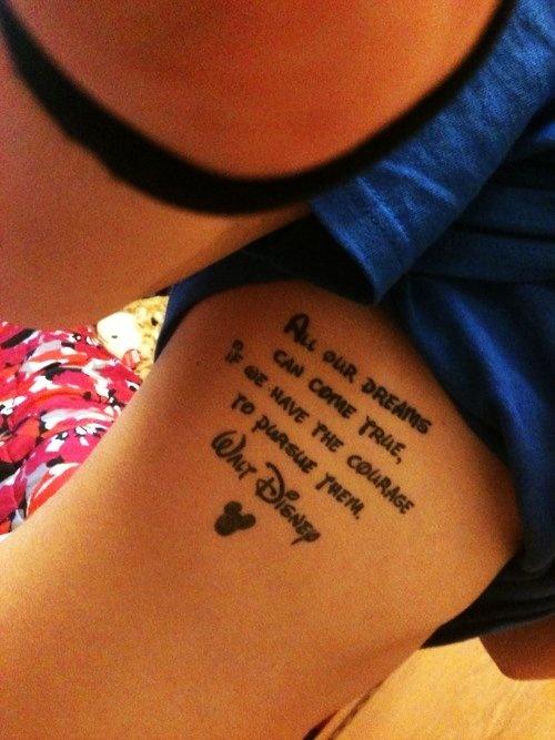 Cute Disney quote Tattoo