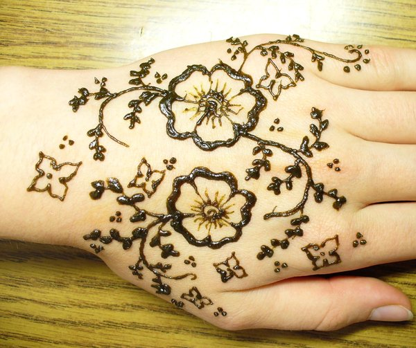 Flower Mehndi Designs 2