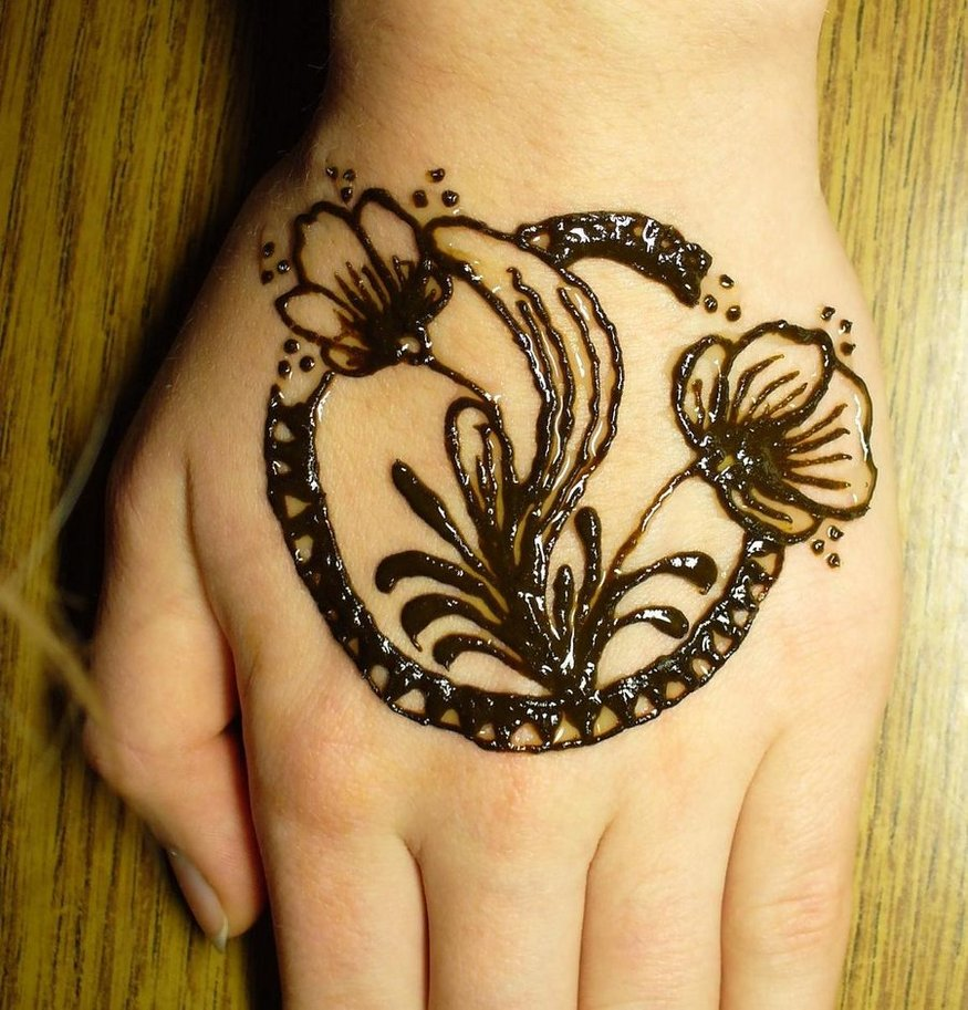 Flower Mehndi Designs 5