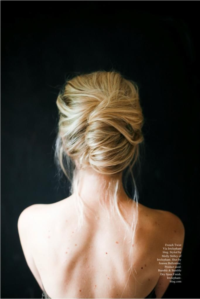 Messy french twist hairstyle