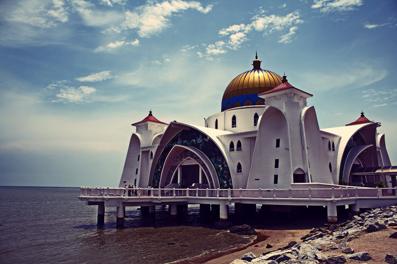 The Floating Mosque of Melacca