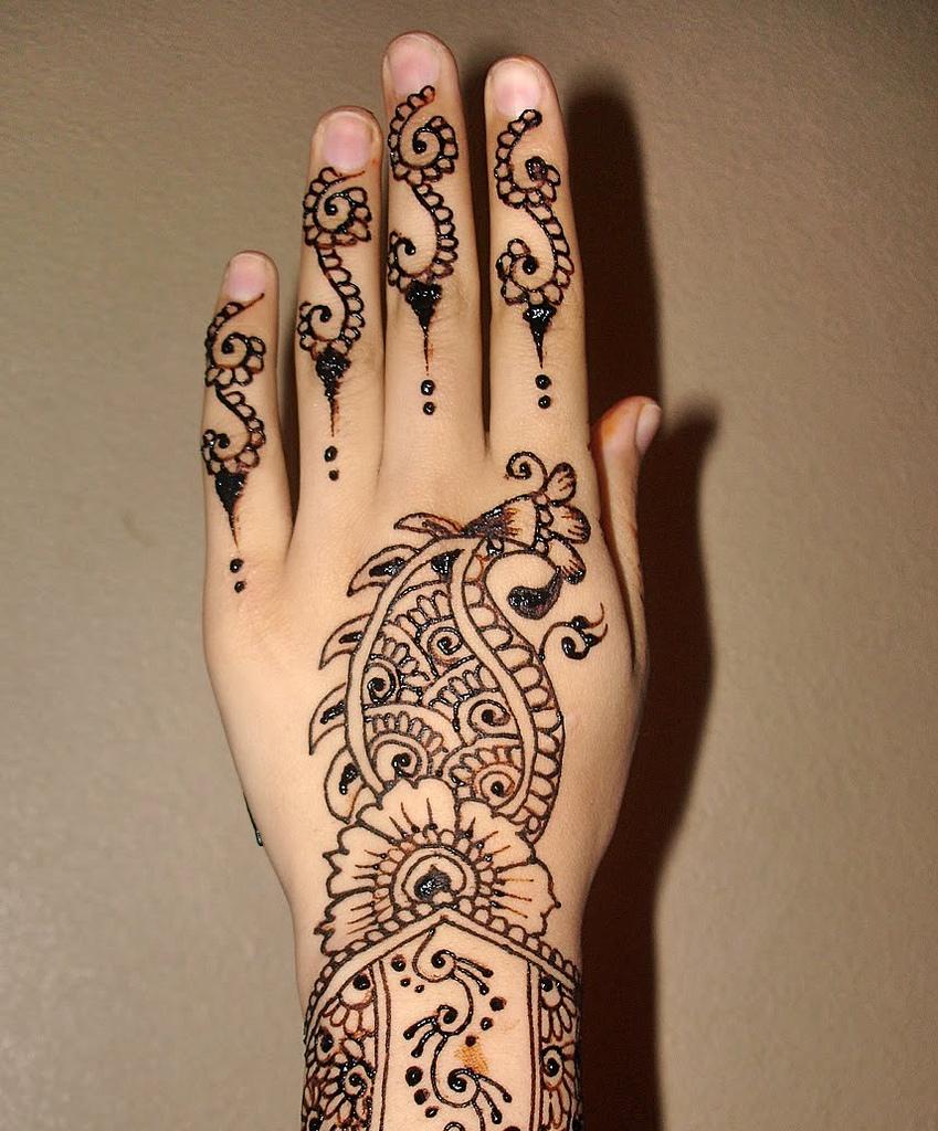eid hand mehndi pattern 2015
