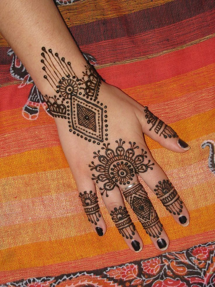 splendid back hand mehndi design