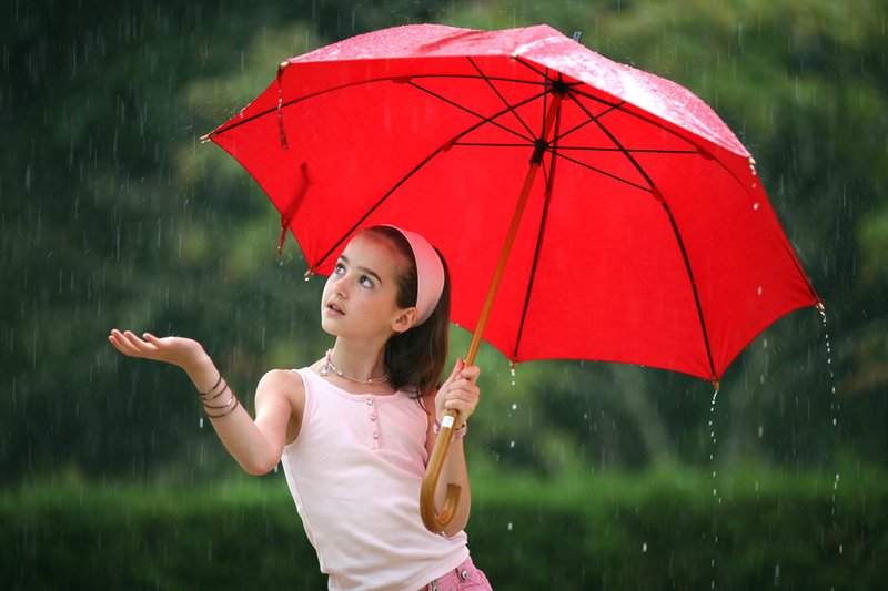 beautiful rain photo