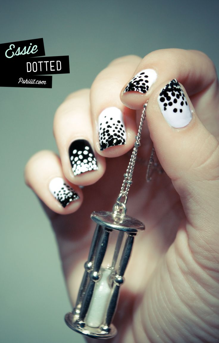 1 black and white nails designs