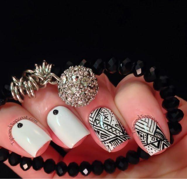 25 black and white nail design