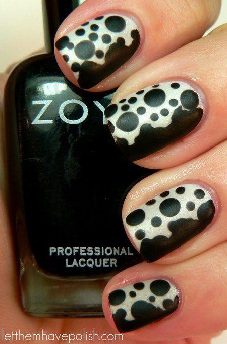 30 black and white nail design