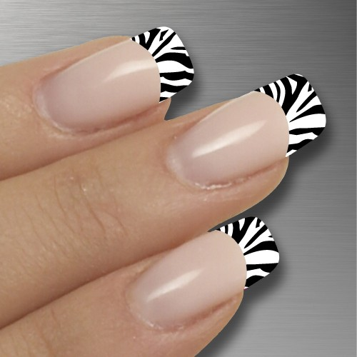 6 black and white nails designs