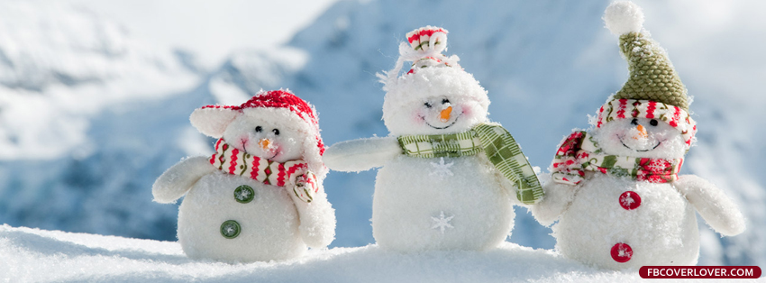 cute snowman facebook cover photo