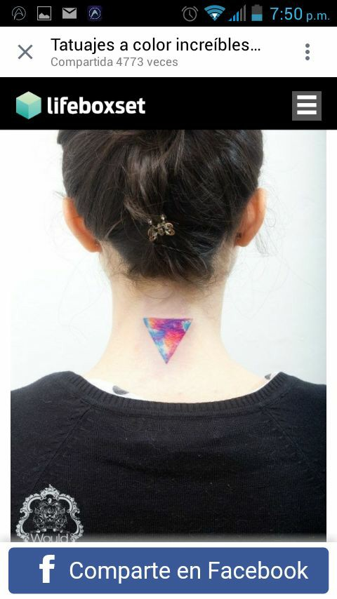 cute triangle tattoo
