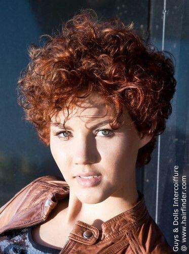 short curly hair photo