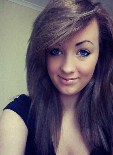 stylish brunette hairstyle