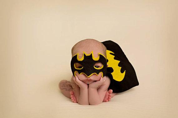 Batman newborn baby costumes for Halloween