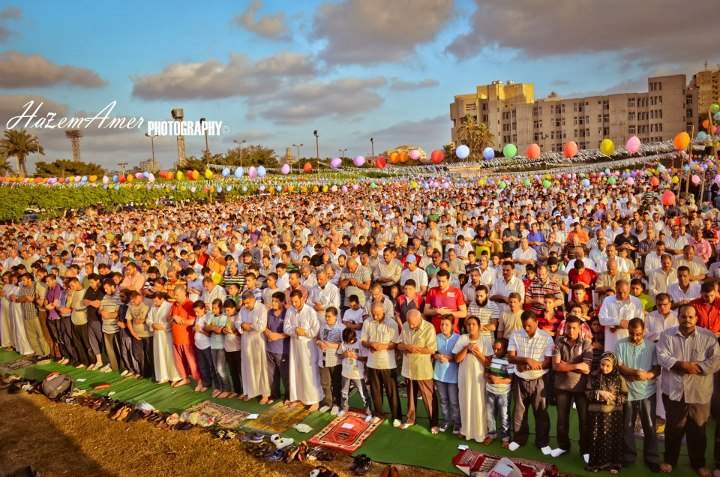Eid al-Fitr Prayers at Alexandria University, Alexandria, Egypt