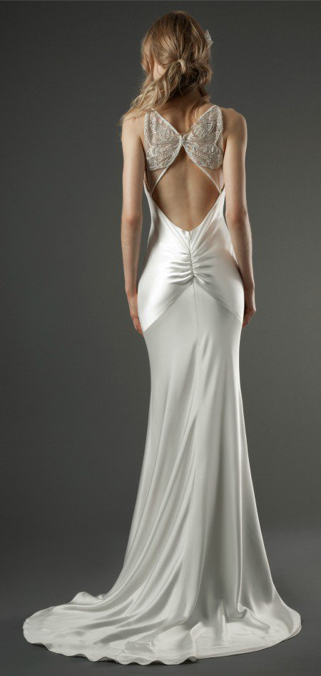 butterfly back wedding dress