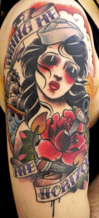 gothic zombie tattoo