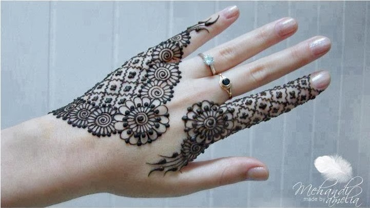 simple back hand mehndi design 2016