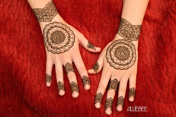 simple bridal mehndi design