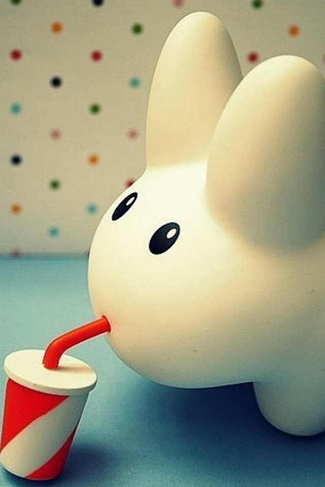 Cute Rabbit iPhone Wallpaper