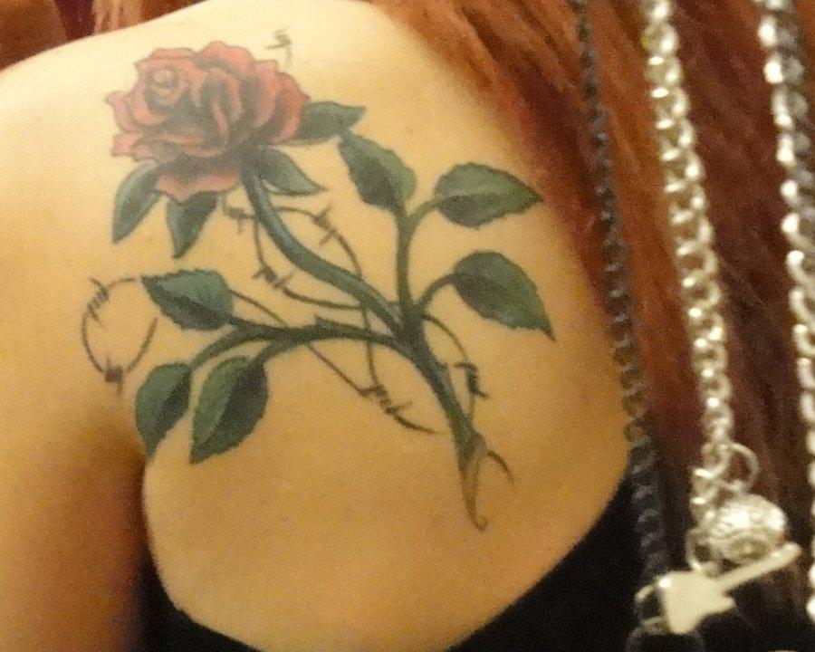 Gothic Rose Tattoo