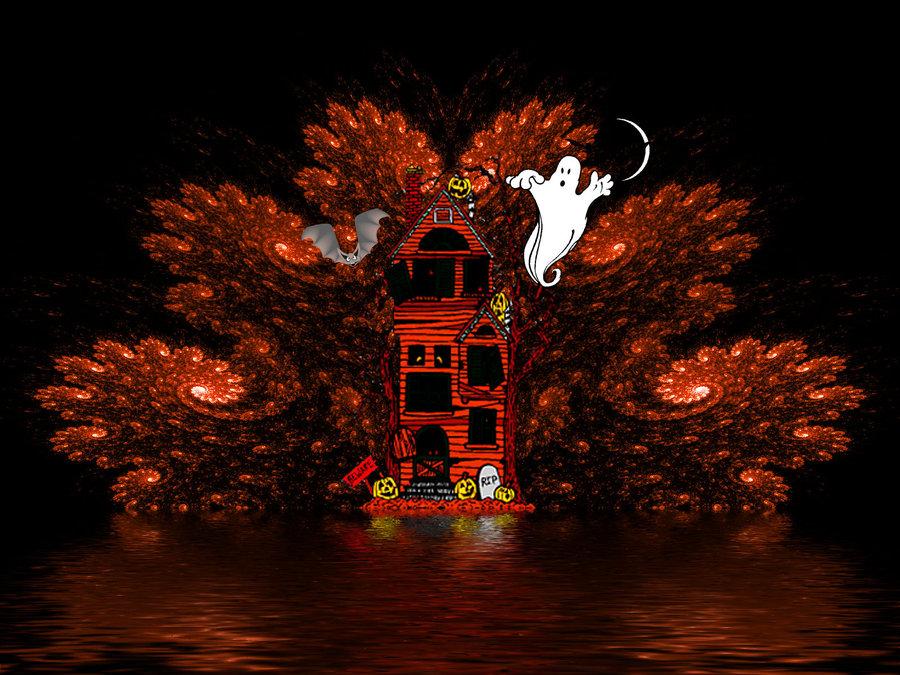 Halloween fractal Wallpaper